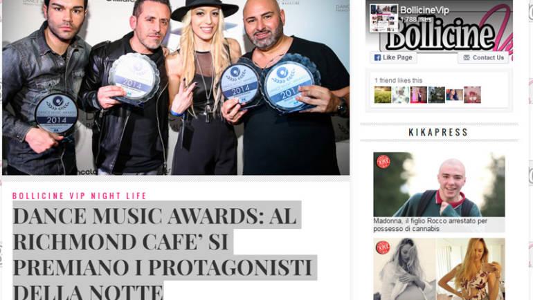 DANCE MUSIC AWARDS: AL RICHMOND CAFE' SI PREMIANO I PROTAGONISTI DELLA NOTTE