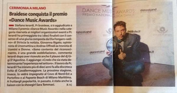 Braidese conquista il premio Dance Music Awards