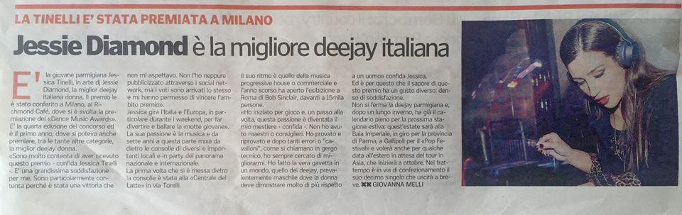 Jessie Diamond è la migliore deejay italiana