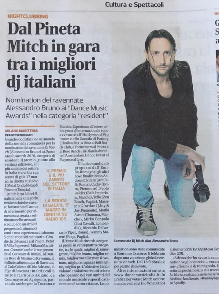 Dal Pineta Mitch in gara tra i migliori dj Italiani