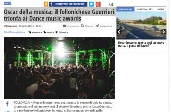 Oscar della musica: il follonichese Guerrieri trionfa ai Dance music awards