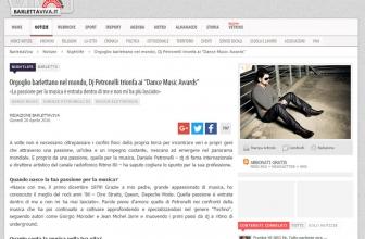 """Orgoglio barlettano nel mondo, Dj Petronelli trionfa ai """"Dance Music Awards"""""""