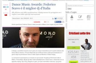 Dance Music Awards: Federico Scavo è il miglior dj d'Italia